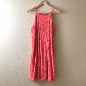 Sleeveless Salmon Dress